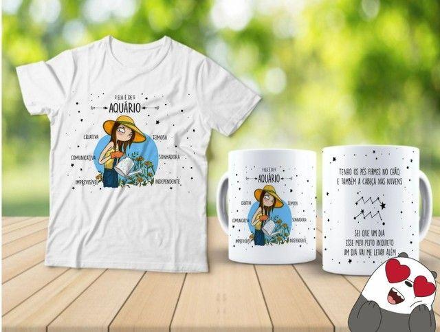 Kit camiseta e Canecas signos