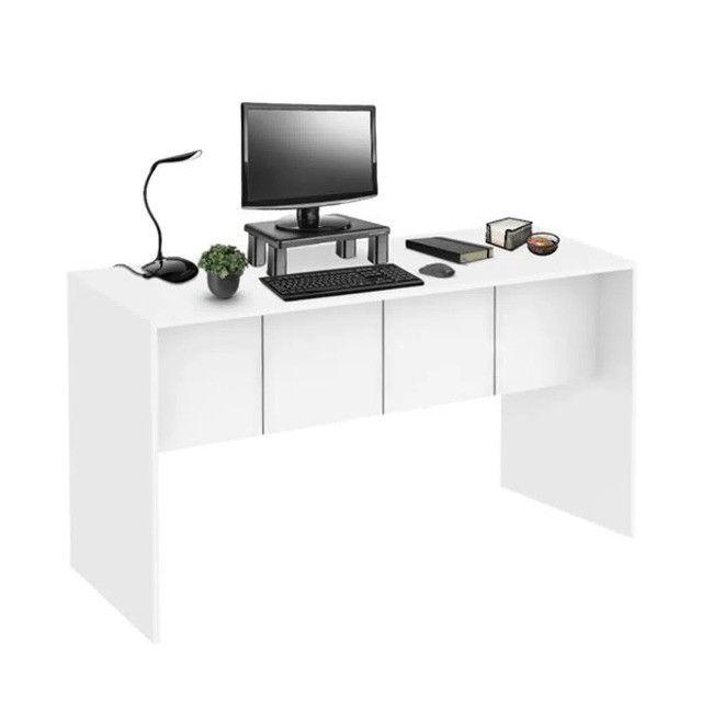 Mesa para Computador 136cm Branco Fosco