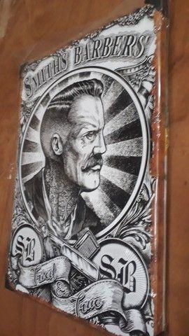 Quadro de metal barbearia. 40 x 30 x 2 cm - Foto 3