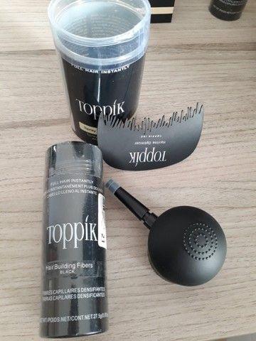 Kit Toppik Hair 27.5g Fibras de Queratina com Bico Borrifador e Pente
