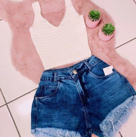 Shorts Jeans Feminino - Foto 6