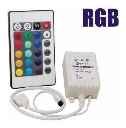 Controle Remoto E Controladora P/ Fita Led RGB 3528/5050 - Foto 3