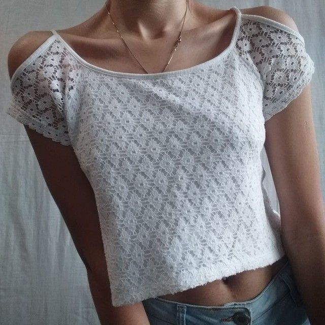 Blusa branca de renda  - Foto 3