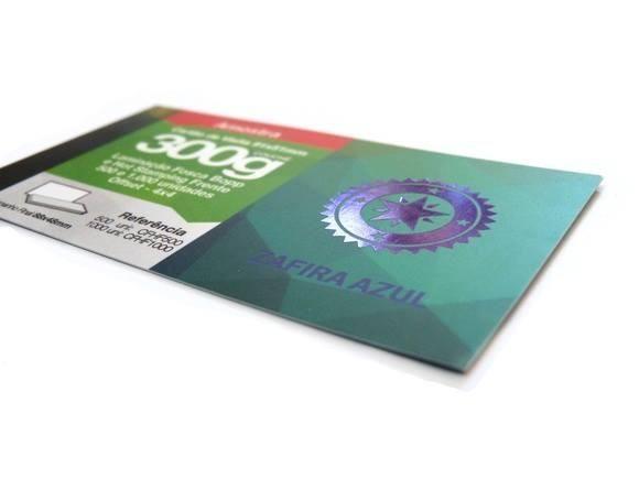 Cartão de Visita Couche 300g - Hot Stamping
