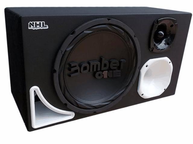 Caixa Trio Uso Residencial Sub 12' Bomber Bluetooth 110/220v