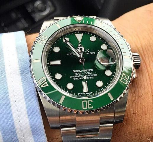 9e09607dce7 PROMOÇÃO  Rolex Submariner Verde ou Azul - Bijouterias