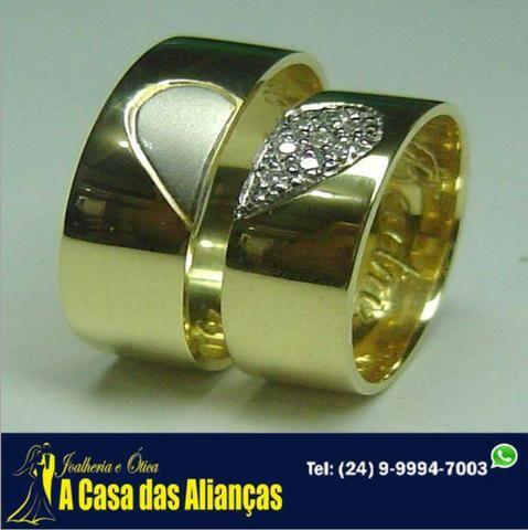 Alinaças Amor Eterno ouro 18 Kilates