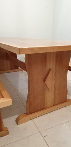 Mesa para churrasqueira com 2 bancos - Foto 2