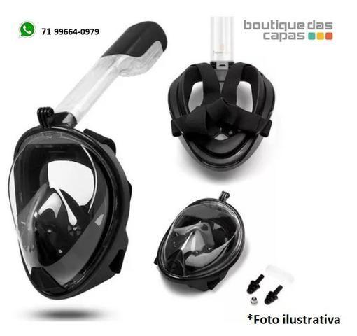 Mascara Mergulho Snorkel Com Suporte P/ Gopro Câmera De Ação - Foto 5