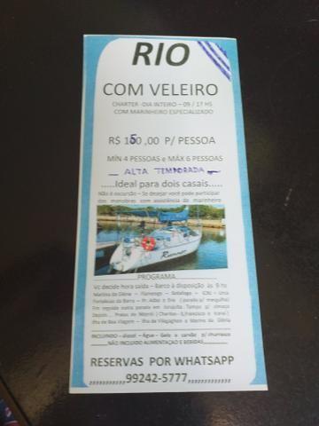 Aluguel Veleiro R$150,00 p/ pessoa. Mínimo 4 pessoas - Foto 6