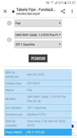 Novo UNO Way Celeb. 1.0 EVO Fire Flex 8V 5P - Tabela FIPE - Foto 13