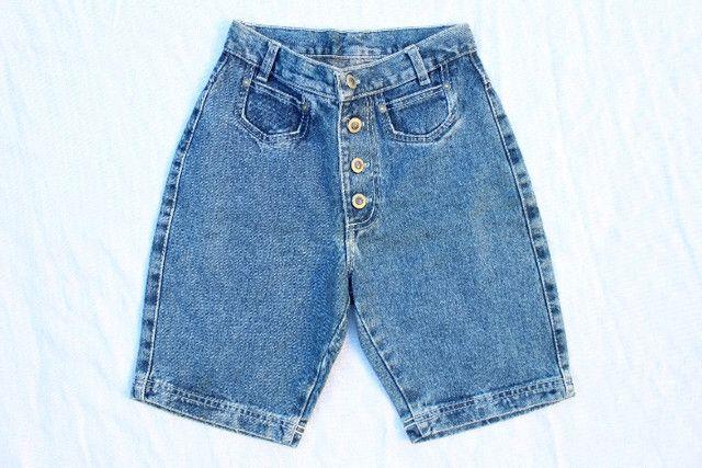 Lote Mom Jeans Vintage CGC Calças e Shorts 15 Peças - Foto 2