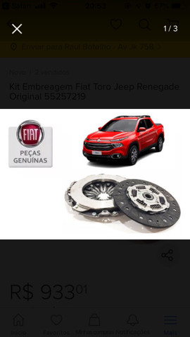 Kit Embreagem Original Fiat Toro Diesel/Bravo
