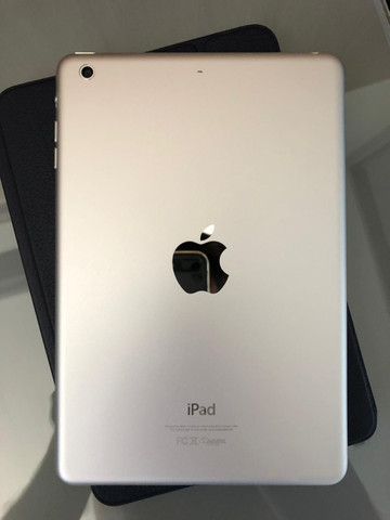 IPad Mini 2 - 32Gb + Smart Case Original Apple de Couro Legítimo Marinho - Foto 5
