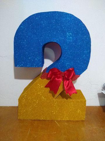 Números grandes para decoração de aniversário em qualquer tema