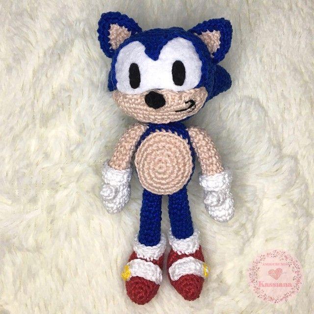 Boneco Sonic Amigurumi - Foto 4