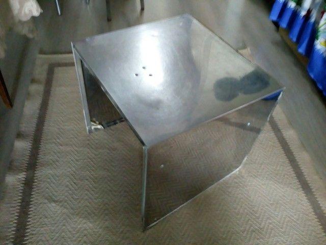 Peça de aço inox 3 lados