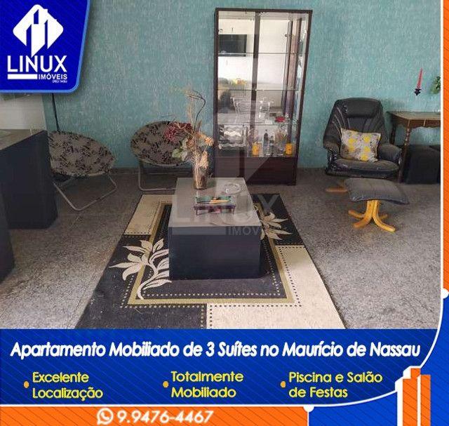 Alugo Apartamento mobiliado de 04 quartos (03 suítes), em Caruaru/PE - Foto 7