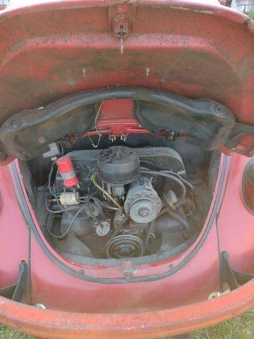 Fusca Vermelho - motor 1300 - ano 1977 - Foto 5