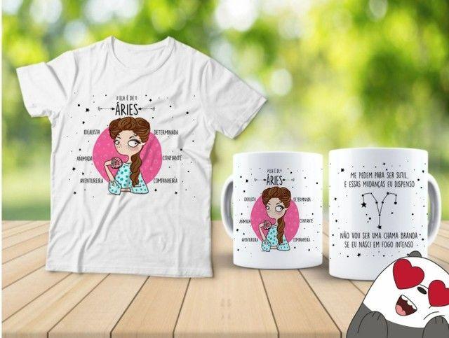 Kit camiseta e Canecas signos  - Foto 4