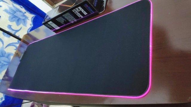 Mousepad Gamer Grande! Acende com Leds Controláveis! (Teclado e Mouse) - Foto 5