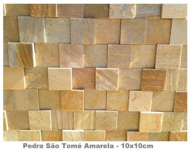Mosaico de Pedra São Tomé Variado 3D Revestimento Natural Promoção DoMeuGosto  - Foto 3