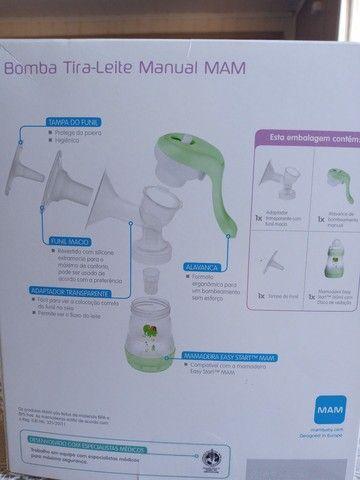 Bomba tira leite manual mam - Foto 3