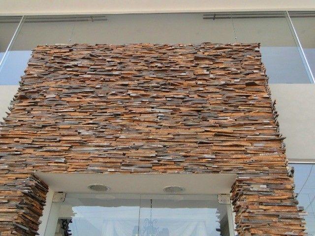 Filete Ponta de Serra Pedra Ferro Basalto Revestimento Natural Parede Promoção DoMeuGosto  - Foto 5