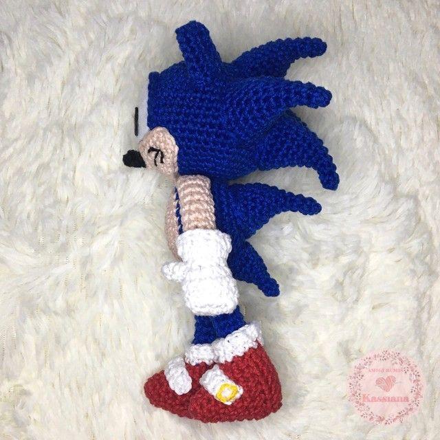 Boneco Sonic Amigurumi - Foto 3