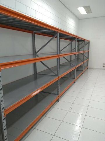 Estante de aço - mini porta palete - estoque de ração peças - 500 kg por prateleira
