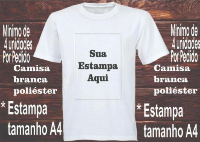 Personalização de Camisetas 100% Poliester b9238dd348fc8