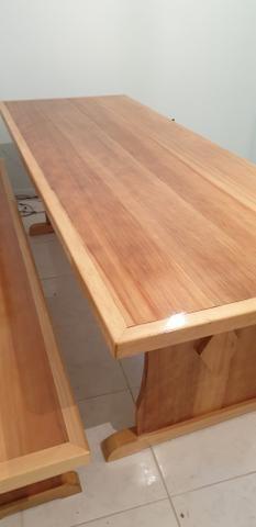 Mesa para churrasqueira com 2 bancos - Foto 4