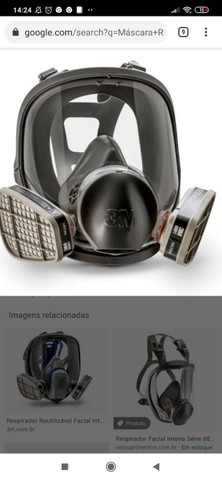 Respirador Reutilizável Facial Inteira $300