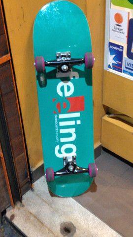 Skate novo troco em longboard pra hoje - Foto 2