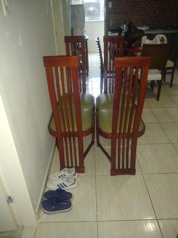 4 cadeira de madeira nova promoção 450  - Foto 3