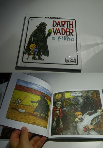 """Livro Ilustrativo """"Darth Vader e Filho"""" + Copo Star Wars - Foto 3"""