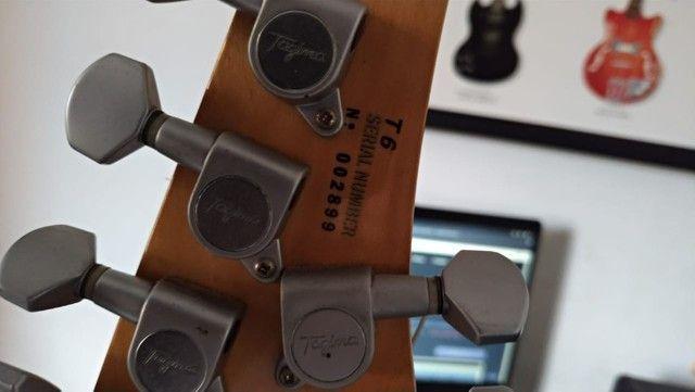Vendo Guitarra Tagima T6 Preta + Bag - Foto 3