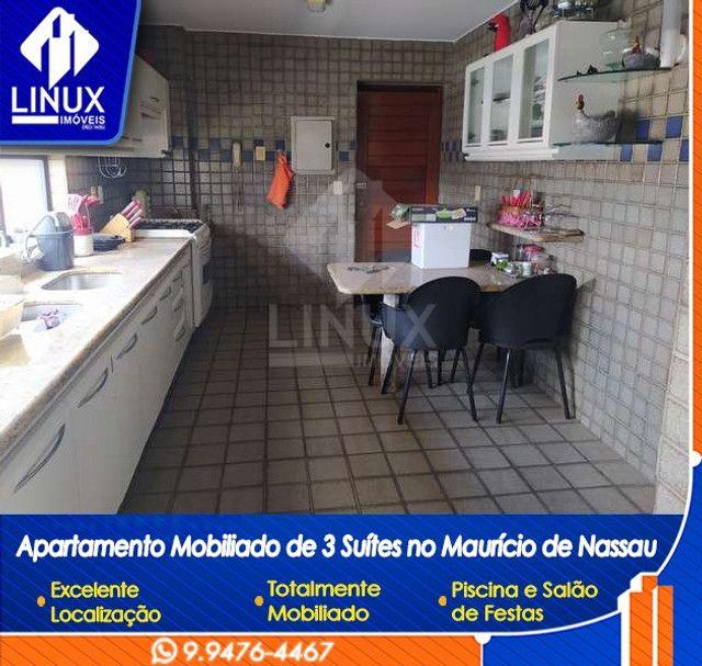 Alugo Apartamento mobiliado de 04 quartos (03 suítes), em Caruaru/PE - Foto 14