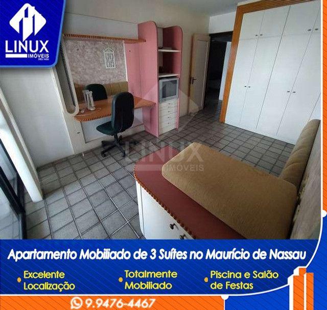 Alugo Apartamento mobiliado de 04 quartos (03 suítes), em Caruaru/PE - Foto 9