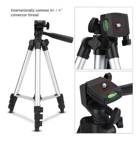 Tripé Universal Telescópico Para Câmera E Celular 1,02m - Foto 3