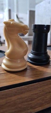 Peças de xadrez Staunton lindas - Foto 3