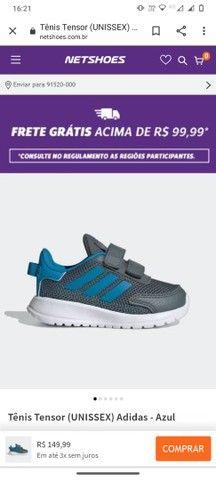Tênis infantil Adidas novo tamanho 23 - Foto 4