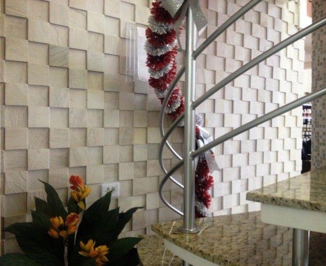 Mosaico de Pedra São Tomé Variado 3D Revestimento Natural Promoção DoMeuGosto  - Foto 6