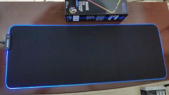 Mousepad Gamer Grande! Acende com Leds Controláveis! (Teclado e Mouse) - Foto 4