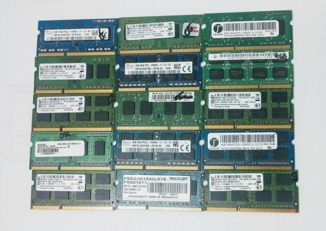 Memórias 4 GB DDR3 1333/1600 PC3/PC3L para Notebook por R$ 60,00 cada