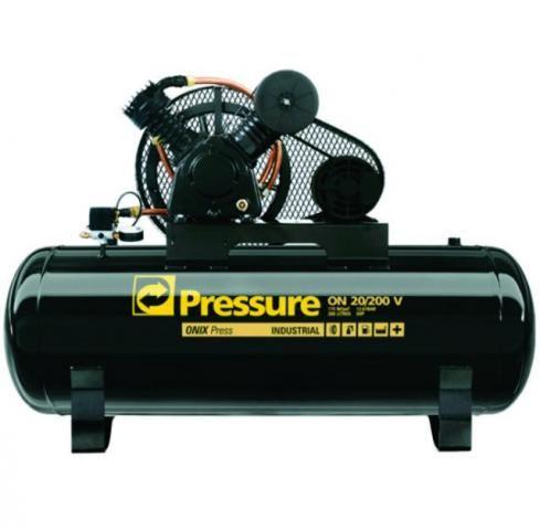 Compressor 20 pés 200 litros 175 libras - Pressure