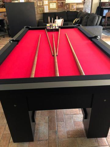 Mesa de Bilhar Tabelas Pretas Tecido Vermelho Cor Preta Tx Modelo DEQ3050 - Foto 5