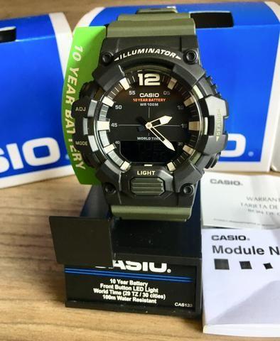 9c4e23b2ded Relógio Casio Analógico e Digital Novo Original (aceito cartão ...