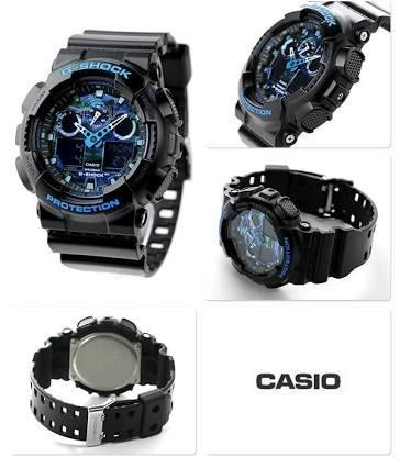c6a91a6beb8 Relógio G-Shock Anadigi Casio Masculino GA-100 - Bijouterias ...
