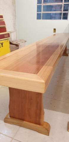 Mesa para churrasqueira com 2 bancos - Foto 3